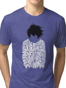 Death Note - L - Typography  Tri-blend T-Shirt