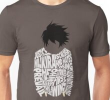 Death Note - L - Typography  Unisex T-Shirt