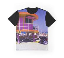Pink Lifeguard Stand Graphic T-Shirt