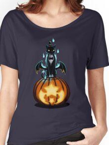 Halloween Cat and Pumpkin Women's Relaxed Fit T-Shirt