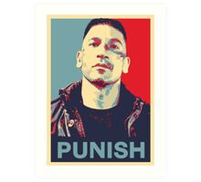 Punisher for President Art Print