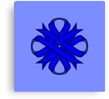 Blue Clover Ribbon Canvas Print