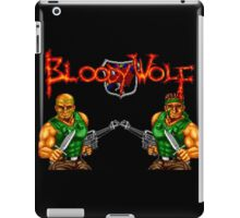 Bloody Wolf (TurboGrafx-16 Title Screen) iPad Case/Skin