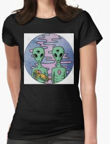 Alien Twins Womens Fitted T-Shirt