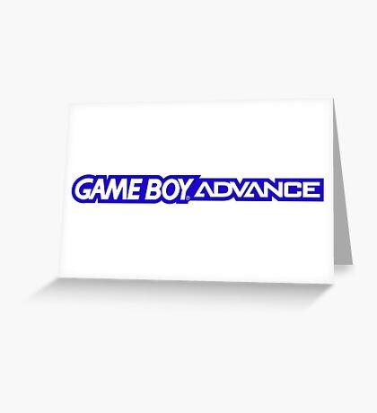 gameboy advance logo Greeting Card
