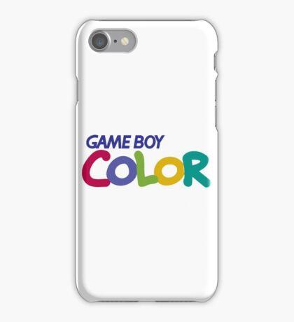 gameboy color logo iPhone Case/Skin