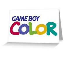 gameboy color logo Greeting Card