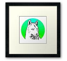 Wolf - Blue & Green Framed Print