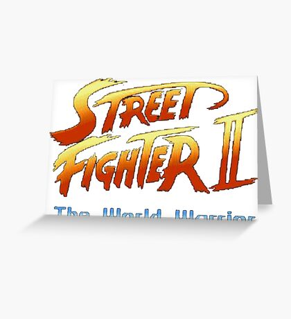 street fighters logo Greeting Card