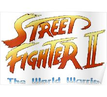 street fighters logo Poster