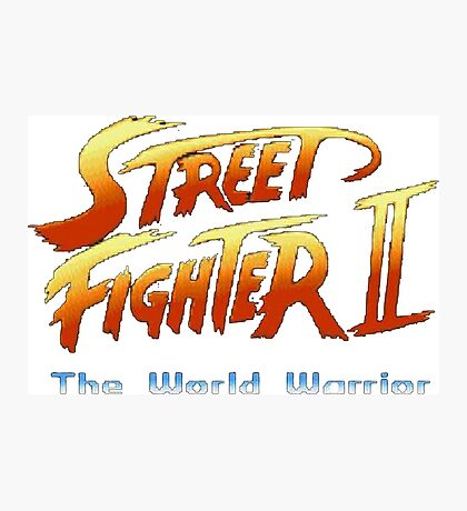 street fighters logo Photographic Print