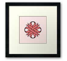 Pink Clover Ribbon Framed Print