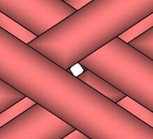 Pink Clover Ribbon Sticker