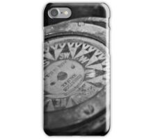 Black and White Compass iPhone Case/Skin