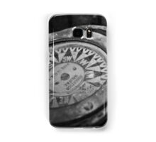 Black and White Compass Samsung Galaxy Case/Skin