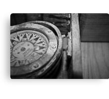 Black and White Compass Canvas Print