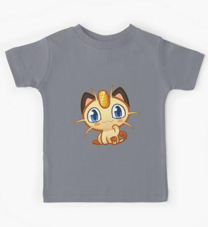 Meowth logo Kids Tee