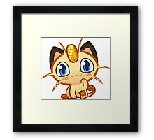 Meowth logo Framed Print
