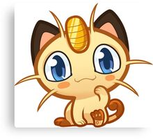 Meowth logo Canvas Print