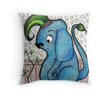 Gesso Monster Throw Pillow