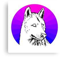 Wolf - Blue & Purple Canvas Print