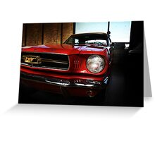 ford mustang classic car Greeting Card