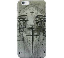 Cross face iPhone Case/Skin