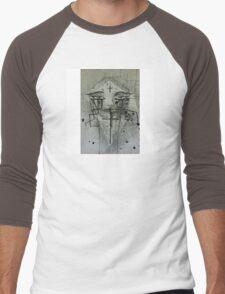Cross face Men's Baseball ¾ T-Shirt