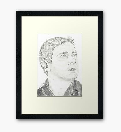Martin Freeman as John Watson Framed Print