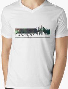 Skyline Chicago Mens V-Neck T-Shirt