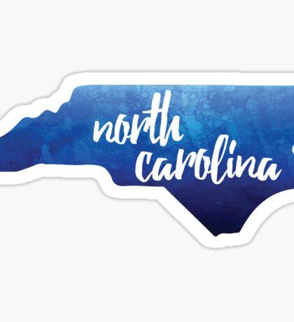 North Carolina - blue watercolor Sticker