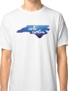 North Carolina - blue watercolor Classic T-Shirt