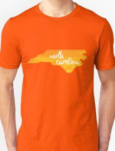 North Carolina - yellow watercolor Unisex T-Shirt