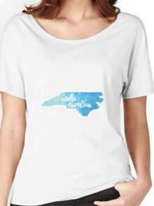 North Carolina - blue watercolor Women's Relaxed Fit T-Shirt