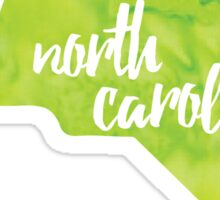 North Carolina - green watercolor Sticker