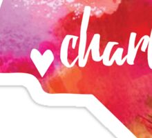 Charlotte, North Carolina - pink watercolor  Sticker