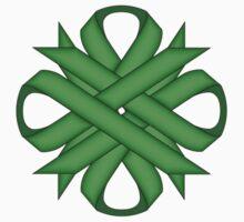 Green Clover Ribbon Kids Tee