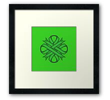 Green Clover Ribbon Framed Print