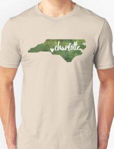 Charlotte, North Carolina - green watercolor T-Shirt