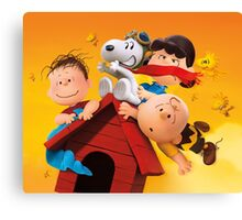 charlie brown snoopy peanuts fly high Canvas Print