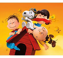 charlie brown snoopy peanuts fly high Photographic Print
