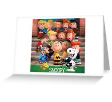 charlie brown snoopy peanuts foto session Greeting Card