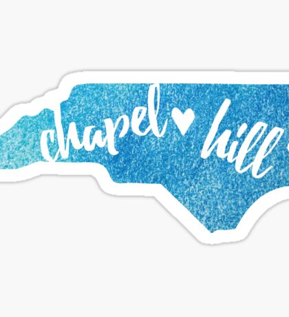 Chapel Hill, North Carolina - blue watercolor Sticker