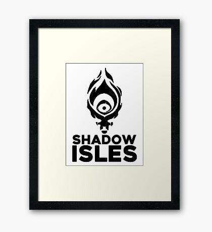 Shadow isles Framed Print