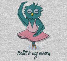 Owl ballerina One Piece - Long Sleeve