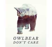 Owlbear Don't Care Photographic Print