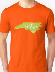 Durham, North Carolina - Green watercolor Unisex T-Shirt