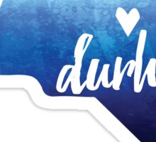 Durham, North Carolina - blue watercolor Sticker