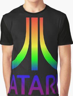 Atari Big Rainbow Logo Graphic T-Shirt