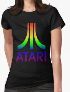 Atari Big Rainbow Logo Womens Fitted T-Shirt